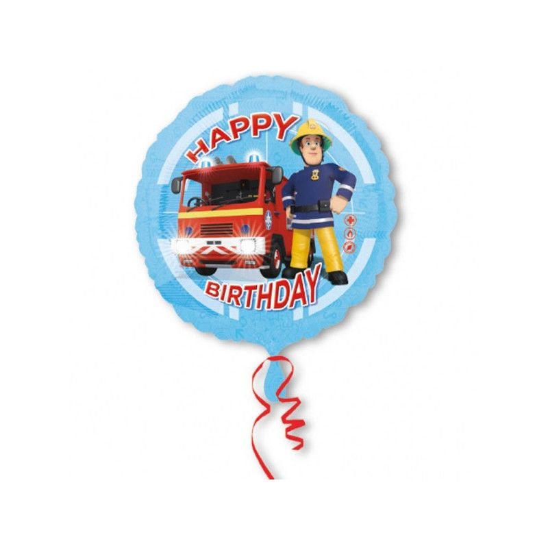 Ballon hélium Sam le pompier Happy Birthday 43 cm Déco festive 3013201