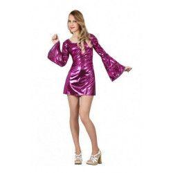 Déguisements, Déguisement disco lilas femme taille M-L, 17623, 17,90€