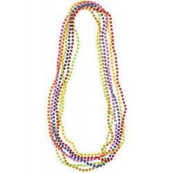 Lot 6 colliers de perles fluo néon Accessoires de fête 9651-LOT