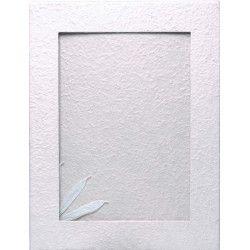 Livre d'or blanc petit modèle 21.5x26.5x2cm Déco festive 1700015-BLC