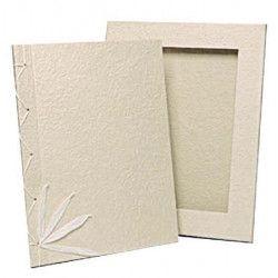 Livre d'or ivoire petit modèle 21.5x26.5x2cm Déco festive 1700015-I
