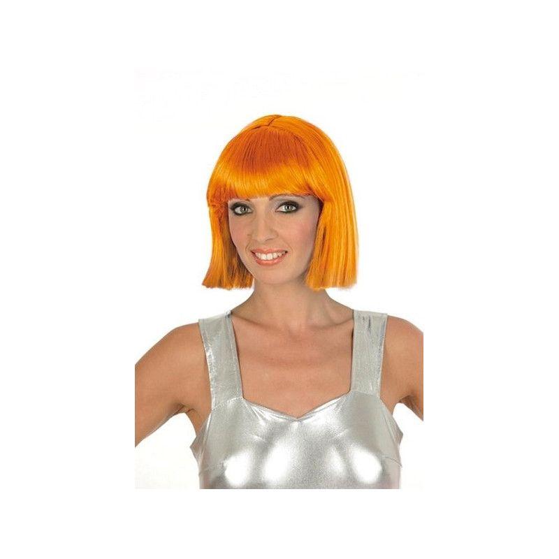 Perruque Crazy orange fluo Accessoires de fête 1900020-OF