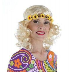 Perruque hippie blonde avec tour de tête tournesol Accessoires de fête 1900126