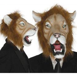 Masque lion en latex adulte Accessoires de fête 2465GUIRCA