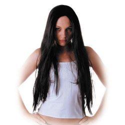 Perruque longue et noire de sorcière Accessoires de fête 873162