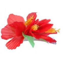 Barrette fleur hawaienne Accessoires de fête 16434