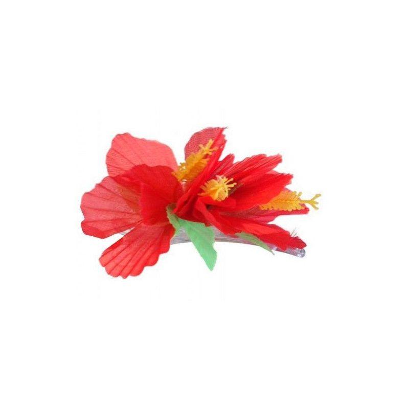Accessoires de fête, Barrette fleur hawaienne, 16434, 1,90€