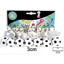 Porte-clés ballon de foot x 12 Jouets et kermesse 18026