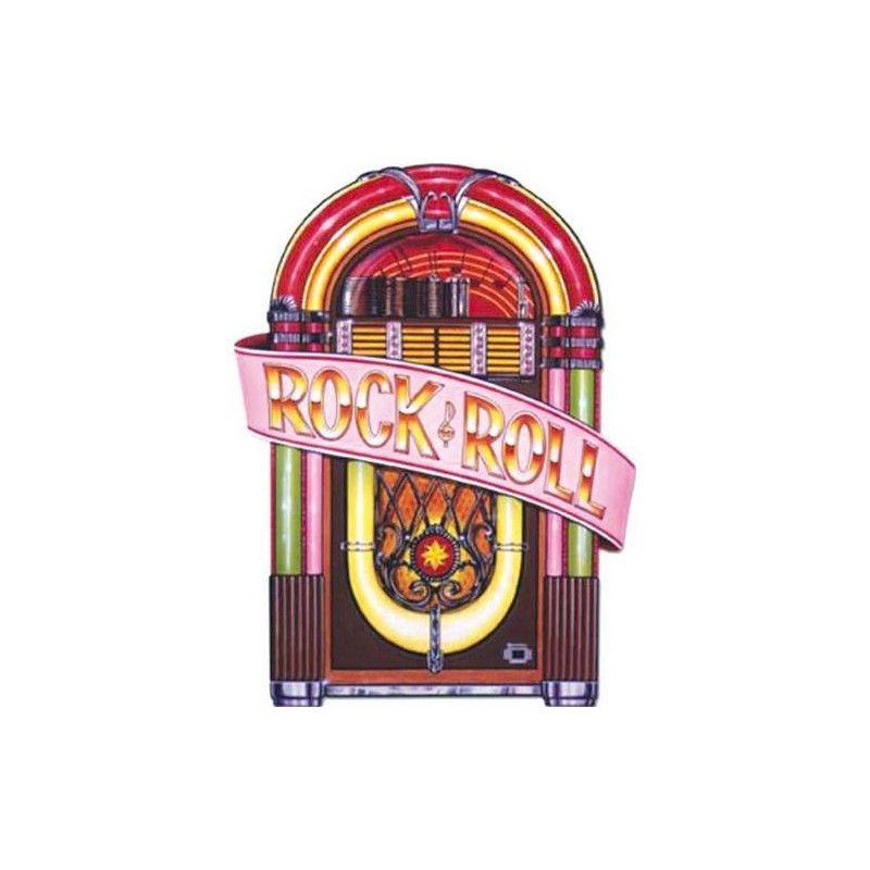 Décor juke box carton 90 cm Déco festive GU48063