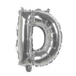 Ballon aluminium argent 36 cm - lettre D Déco festive 22103
