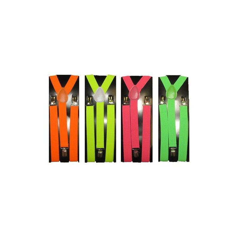 Bretelles fluorescentes Accessoires de fête 81452FO