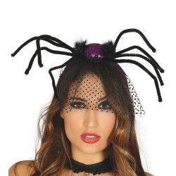 Serre-tête avec araignée, marabout et voile Accessoires de fête 26096