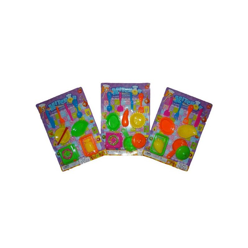 Kit dînette en plastique kermesse Jouets et kermesse 6609TOY