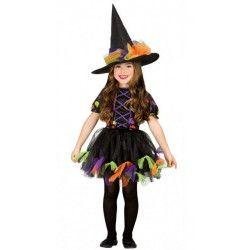 Déguisement sorcière avec rubans fille 3-4 ans Déguisements 85517