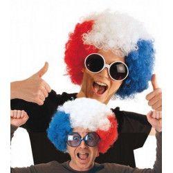 Accessoires de fête, Perruque chicco tricolore France, 865514, 7,90€