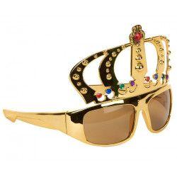 Lunettes dorées couronne de roi Accessoires de fête 87119