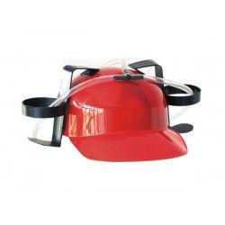 Casque humoristique apéro rouge Accessoires de fête 8736551