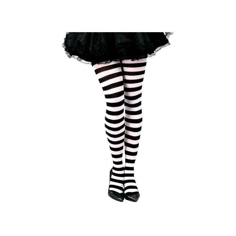 Collants rayés noir et blanc Accessoires de fête 18279
