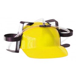 Casque humoristique apéro jaune Accessoires de fête 8736553