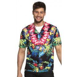 Chemise manches courtes Hawaï homme Déguisements 8442-