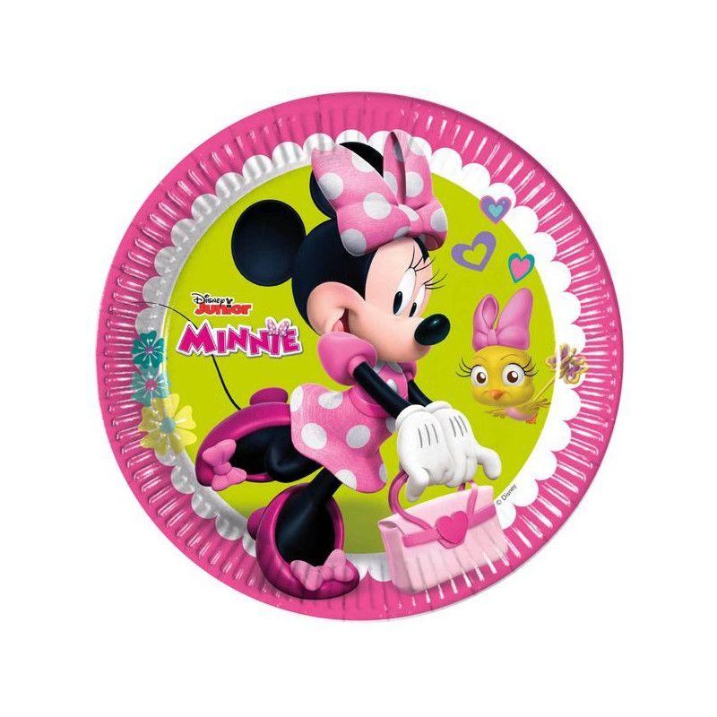 Assiettes 23 cm Minnie Happy Helpers™ x 8 Déco festive LMIN87860