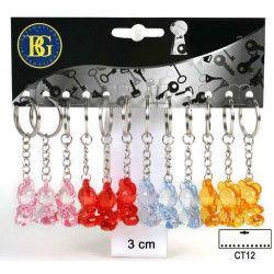 Jouets et kermesse, Porte clés ours cristal 3 cm x 12, 18309, 2,30€