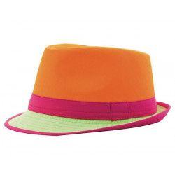 Accessoires de fête, Chapeau Trilby néon adulte, 3333-, 3,90€
