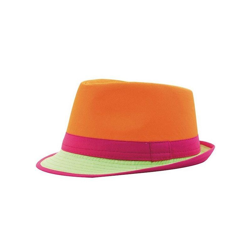 Chapeau Trilby néon adulte Accessoires de fête 3333-