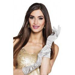 Gants Monte Carlo argent femme Accessoires de fête 03004