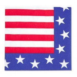 Déco festive, Serviettes papier USA x 12, 401763, 1,25€