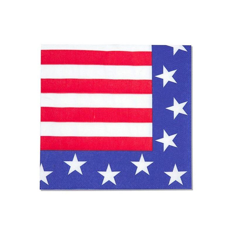 Serviettes papier USA x 12 Déco festive 401763