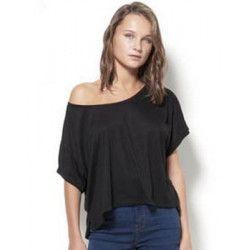 T-shirt noir femme Accessoires de fête 80S-NOIR