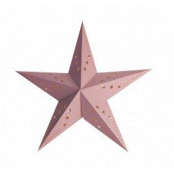 Lanterne étoile rose pastel Déco festive 50251-