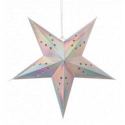 Lanterne étoile pastel irisée Déco festive 502511-
