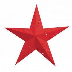 Lanterne étoile rouge Déco festive 502512-