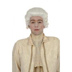 Perruque marquis blanche adulte Accessoires de fête 1900046