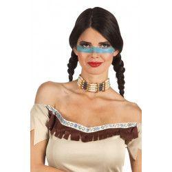 Collier ras de cou indienne Accessoires de fête 44130
