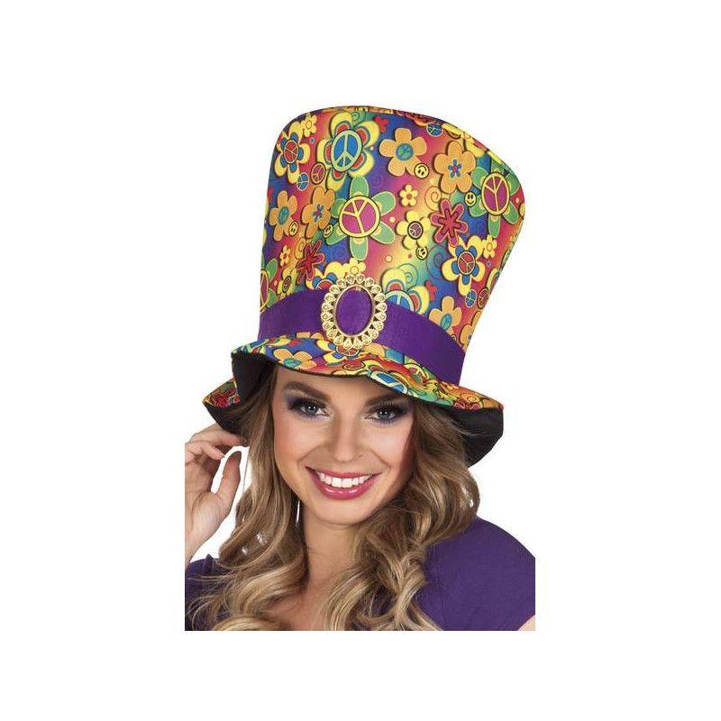 Chapeau haut de forme hippie femme Accessoires de fête 44523