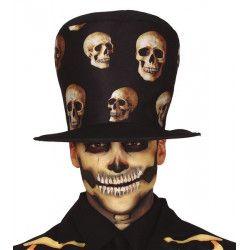 Chapeau haut de forme tête de mort Accessoires de fête 13128
