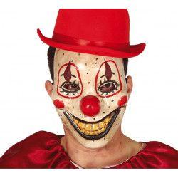 Masque clown sourire jaune plastique Accessoires de fête 2266