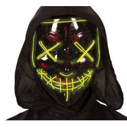 Masque plastique noir lumineux Accessoires de fête 2271