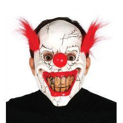 Masque clown avec cheveux latex Accessoires de fête 2484