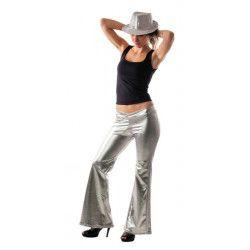 Pantalon disco argent femme taille M Déguisements 8650511