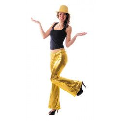 Pantalon disco or femme taille M Déguisements 8650512