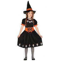 Déguisements, Déguisement sorcière noire fille, 87739-, 18,50€