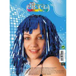 Accessoires de fête, Perruque tinsel disco bleue, 87333604, 1,50€