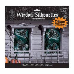 Décorations de fenêtre Halloween Maison Hantée Déco festive 450086