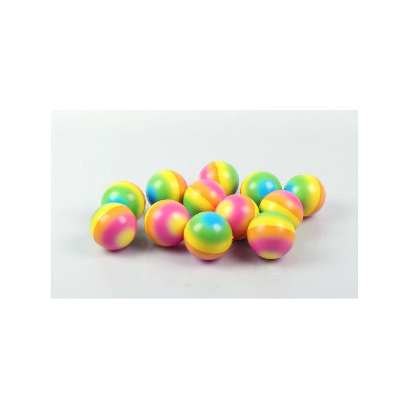 Balle motif arc en ciel 6 cm vendue par 24 Jouets et articles kermesse 6016-LOT