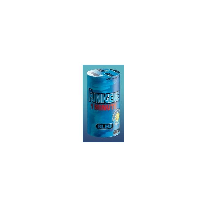 Tube fumigene 1 minute bleu Artifices 33032