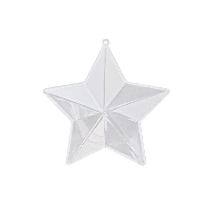 Etoile à dragées en plastique transparent x 3 Déco festive 545TR